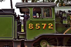 Dampflokomotive in England Lizenzfreie Stockfotos