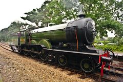Dampflokomotive in England Stockfotos