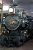 Dampflokomotive im Depot Lizenzfreie Stockfotografie