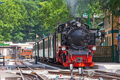 Dampflokomotive, Rasender Roland, RÃ-¼ GEN stockfotografie