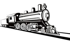 Dampflokomotive-Schabloneart Stockbild