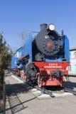 Dampflokomotive Sergo Ordzhonikidze am sich fortbewegenden Depot in Vologda, Russland Lizenzfreie Stockbilder