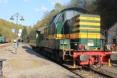 Dampflokomotive in Vernarrt-De-Gras, Luxemburg Stockbilder