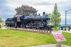 Dampflokomotivegeist von Sir John A Macdonald in Kingston - Kanada lizenzfreie stockfotografie