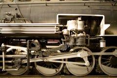 Dampflokomotiveräder lizenzfreies stockfoto