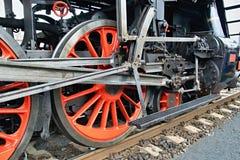 Dampflokomotivfahrgestelle Lizenzfreie Stockfotografie
