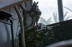 Dampflokomotivkabine Stockfotografie