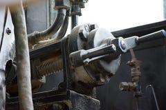 Dampflokomotivkabine Lizenzfreie Stockbilder