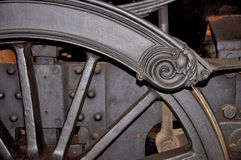 Dampflokomotivräder Lizenzfreie Stockfotos