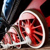 Dampflokomotivräder Lizenzfreies Stockbild
