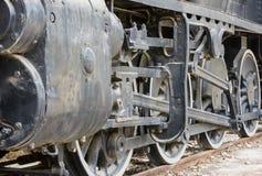 Dampflokomotivräder Stockfotografie