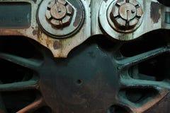 Dampflokomotivrad Stockfotografie