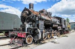 Dampfmaschine builded sich fortbewegende ER-Art Eh2 bei Voroshilovgrad lizenzfreie stockfotos