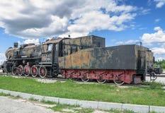 Dampfmaschine builded sich fortbewegende ER-Art Eh2 bei Voroshilovgrad stockfotografie