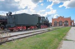 Dampfmaschine builded sich fortbewegende ER-Art Eh2 bei Voroshilovgrad lizenzfreie stockbilder
