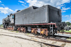 Dampfmaschine builded sich fortbewegende ER-Art Eh2 bei Voroshilovgrad lizenzfreies stockbild