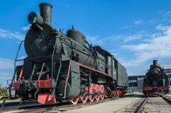 Dampfmaschine builded sich fortbewegende ER-Art Eh2 bei Voroshilovgrad, Brjanksk, 305 Einheiten 1934-1936, angezeigt beim technis lizenzfreie stockfotos