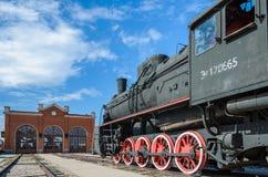 Dampfmaschine builded sich fortbewegende ER-Art Eh2 bei Voroshilovgrad, Brjanksk, 305 Einheiten 1934-1936, angezeigt beim technis lizenzfreie stockbilder