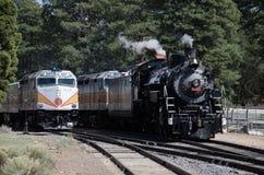 Dampfmaschine 4960 und andere Lokomotiven bei Grand Canyon Stockfotos
