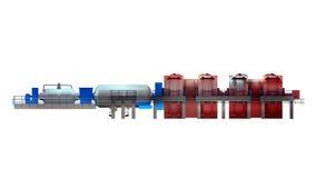 Dampfturbine vektor abbildung
