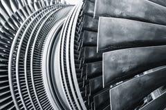Dampfturbinen-Metallblattgebrauch im Kraftwerk lizenzfreie stockfotos