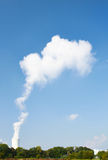 Dampfwolke Lizenzfreie Stockbilder