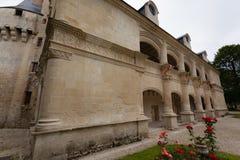 Dampierre-sur-Boutonne kasztelu fasada Zdjęcia Stock