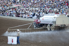 Damping down the dirt, Calgary Stampede Stock Photography