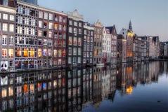 Damrak Амстердам Стоковая Фотография