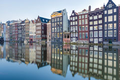 The Damrak canal in Amsterdam, Netherlands. Royalty Free Stock Photos