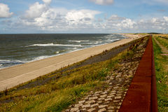 Dams barriers on the North Sea peterson netherlands Stock Images