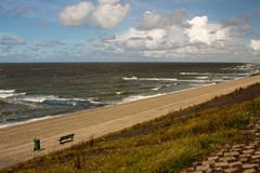 Dams barriers on the North Sea peterson netherlands Royalty Free Stock Photo
