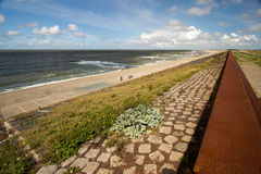 Dams barriers on the North Sea peterson netherlands. Dams barriers on the North Sea netherlands  summer traveling tourism Royalty Free Stock Photography