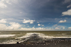 Dams barriers on the North Sea peterson netherlands Royalty Free Stock Images