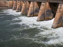 Dams for water storage Royalty Free Stock Photos