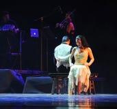 Damsammanträde-identiteten av dentango dansdramat Royaltyfri Foto