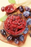 Damson plum preserve Royalty Free Stock Photos