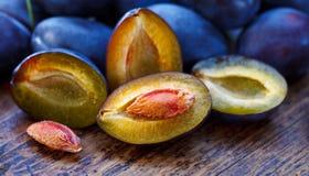 Damson plums Stock Photo