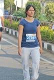 Damspring på Hyderabad 10K kör händelsen, Indien Arkivbild