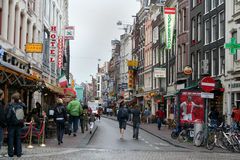 Damstraat in Amsterdam Royalty Free Stock Images
