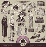 Damtoalett mode och tillbehör Arkivbilder