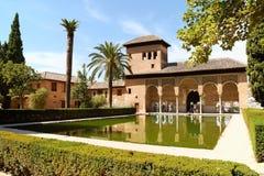Damtoaletttorn i Granada, Spanien Arkivfoto