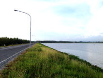 Damweg Royalty-vrije Stock Foto