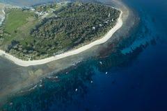 Damy Elliot wyspy widok z lotu ptaka Zdjęcia Royalty Free