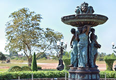 Damy fontanna Obrazy Stock