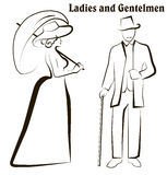 Damy i dżentelmeny Zdjęcia Royalty Free