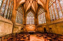 Damy kaplicy witraż, studnie katedralne Obraz Royalty Free