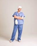 Damy lekarka w Clinicall Odzieżowym i operacj rękawiczkach Zdjęcie Royalty Free