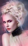 damy makeup czerwień obrazy royalty free