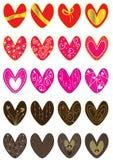 damy miłość ustawia valentine Fotografia Stock